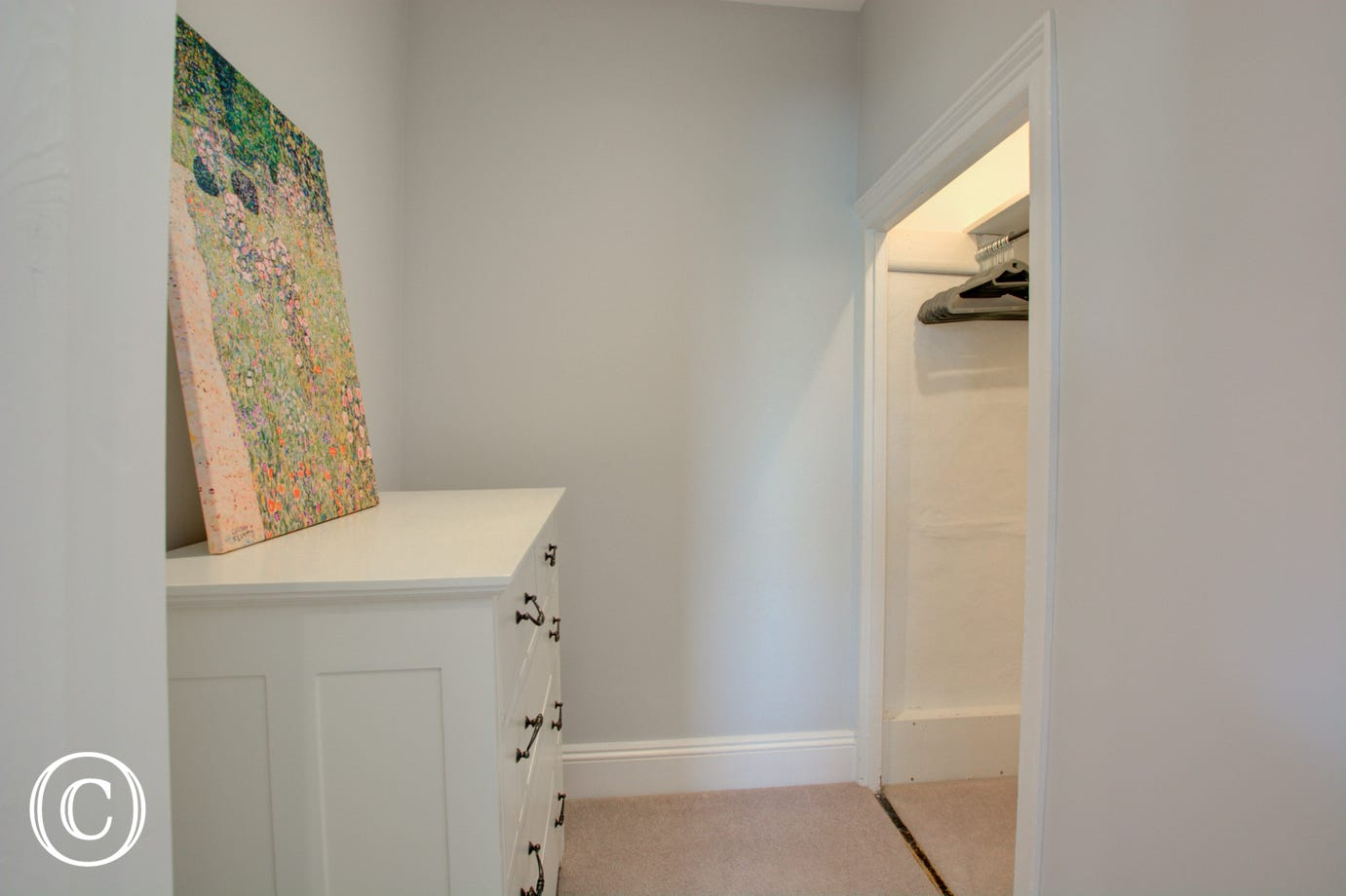 Dressing area in first bedroom