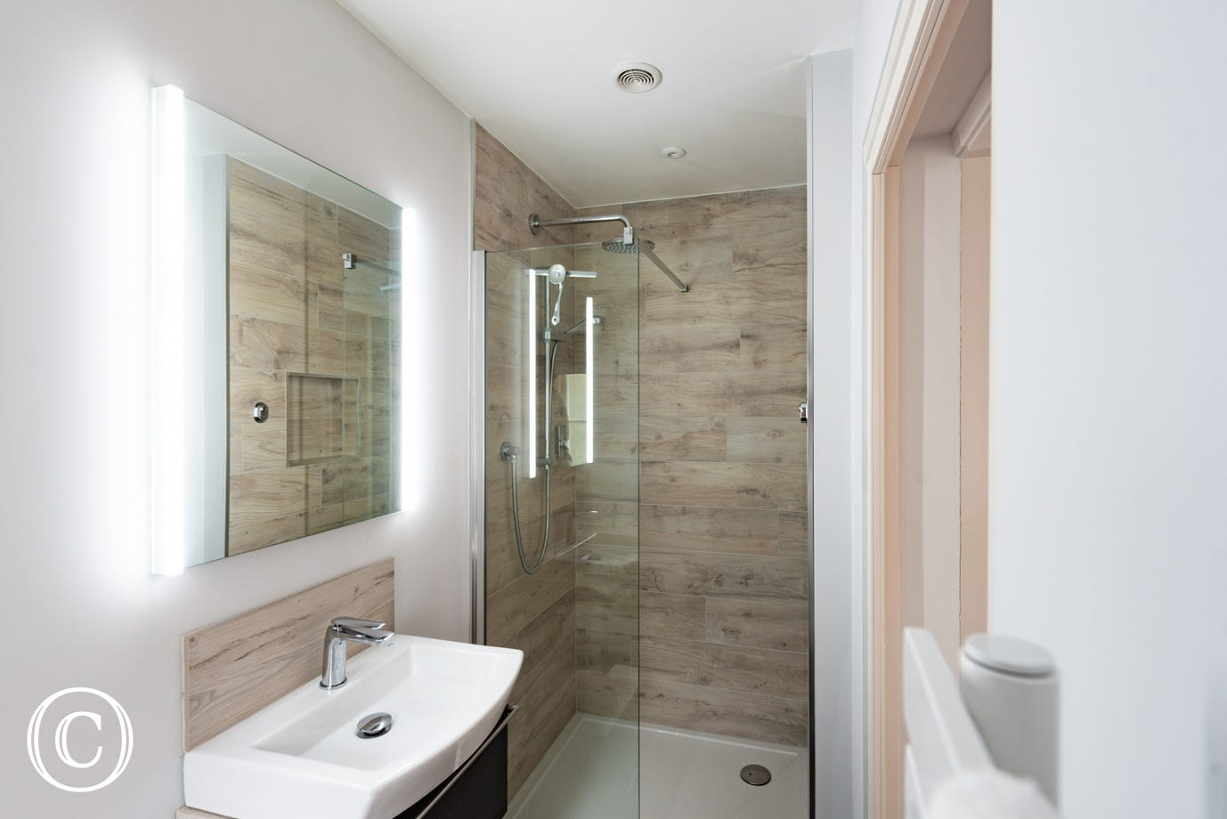 Shower Room with shower & wash basin