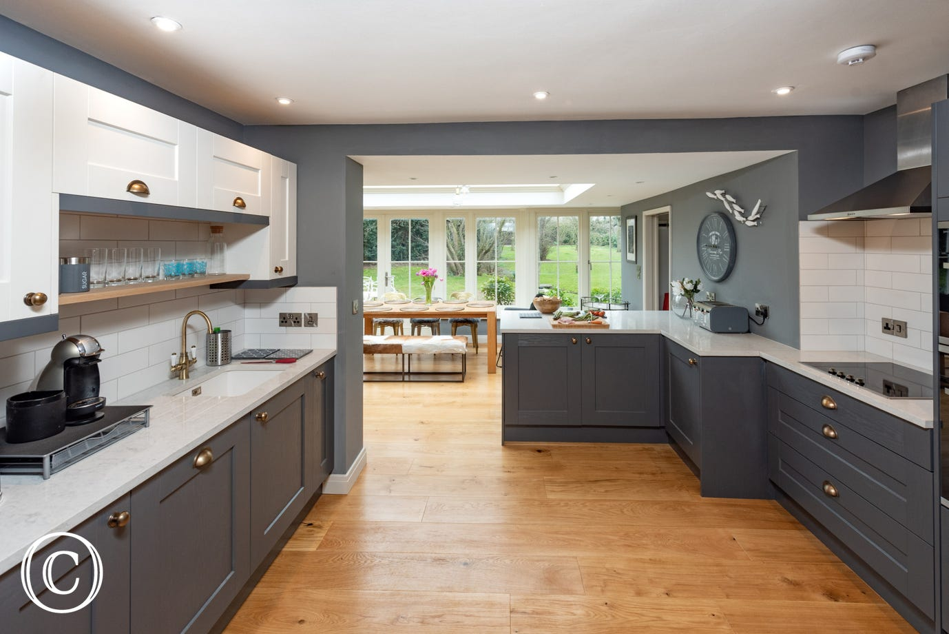 Open plan kitchen / conservatory