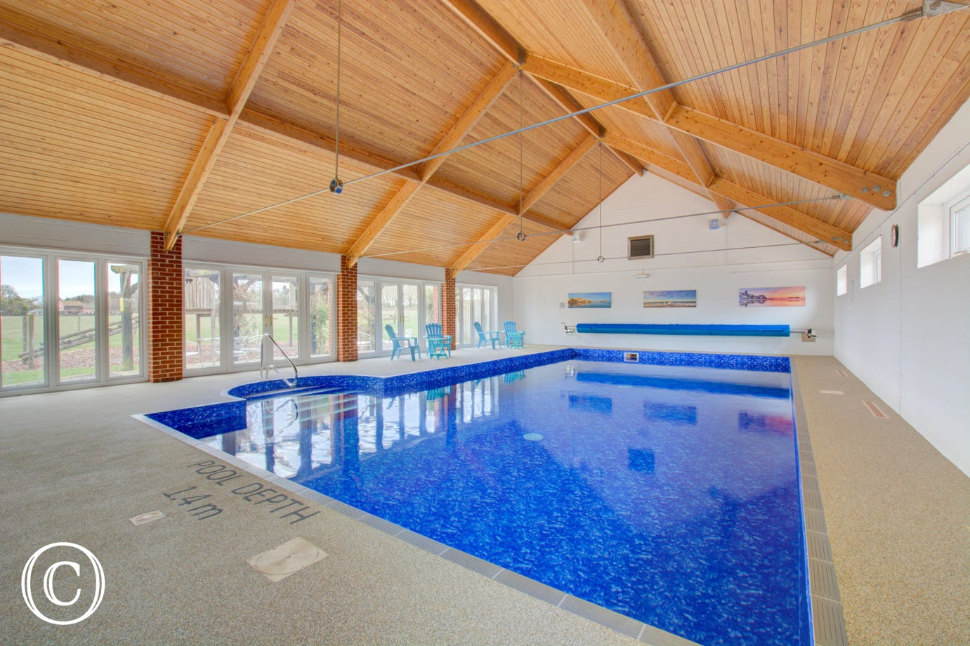 The property benefits from use of this delightful shared swimming pool