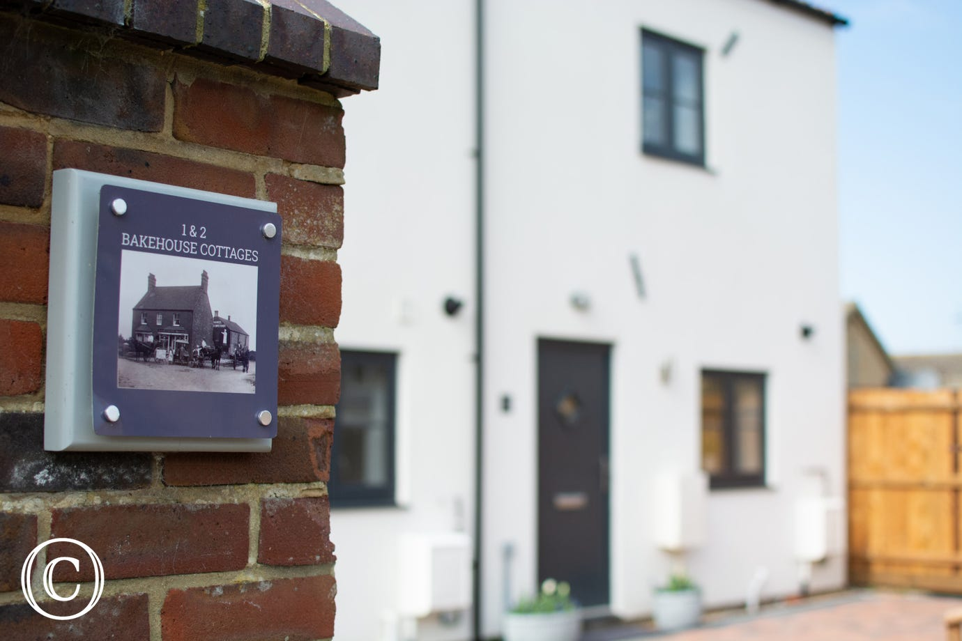 Nameplate for 1 & 2 Bakehouse Cottages