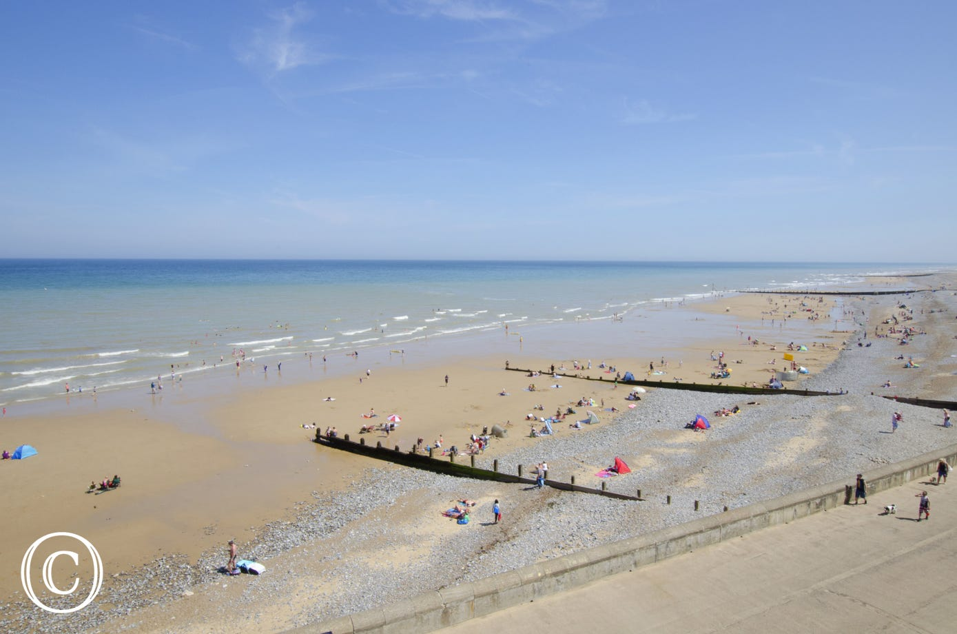 Cromer beach, just 4 miles away