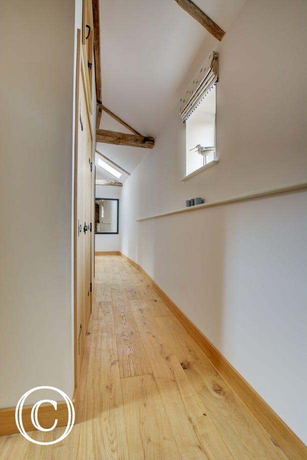 Hall with wooden floors