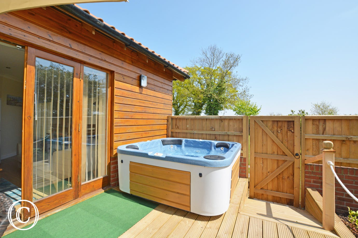 Private hot tub - perfect for relaxing
