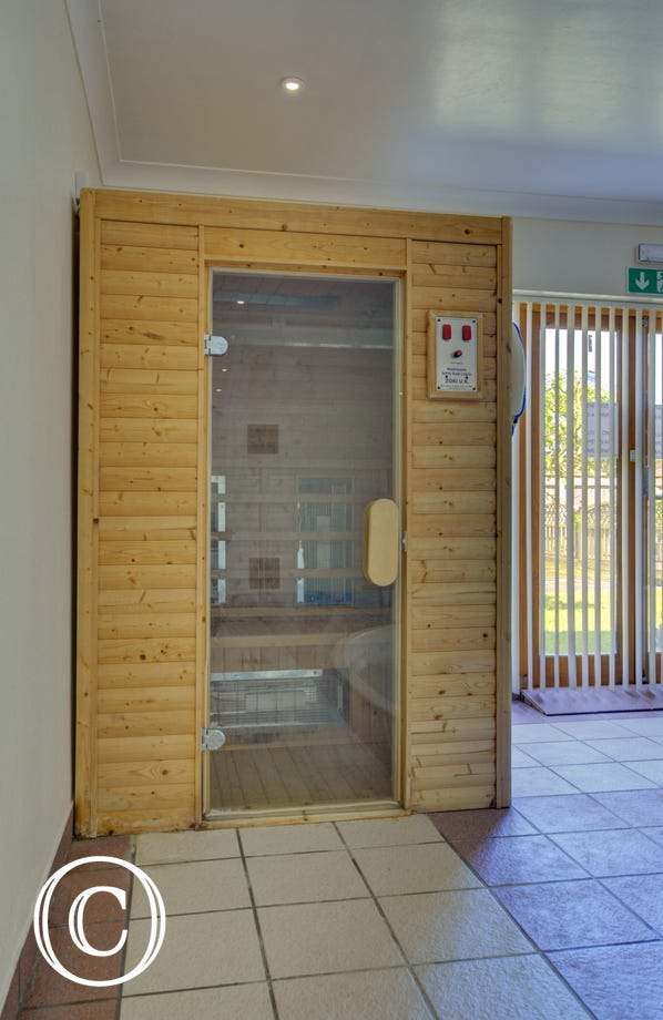 Relax in the sauna at the Hydrotherapy pool