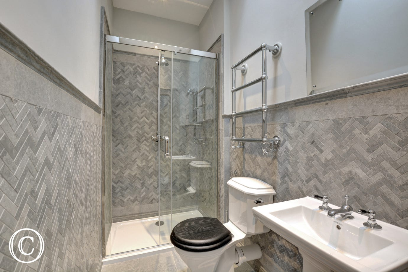 Shower, washbasin and wc