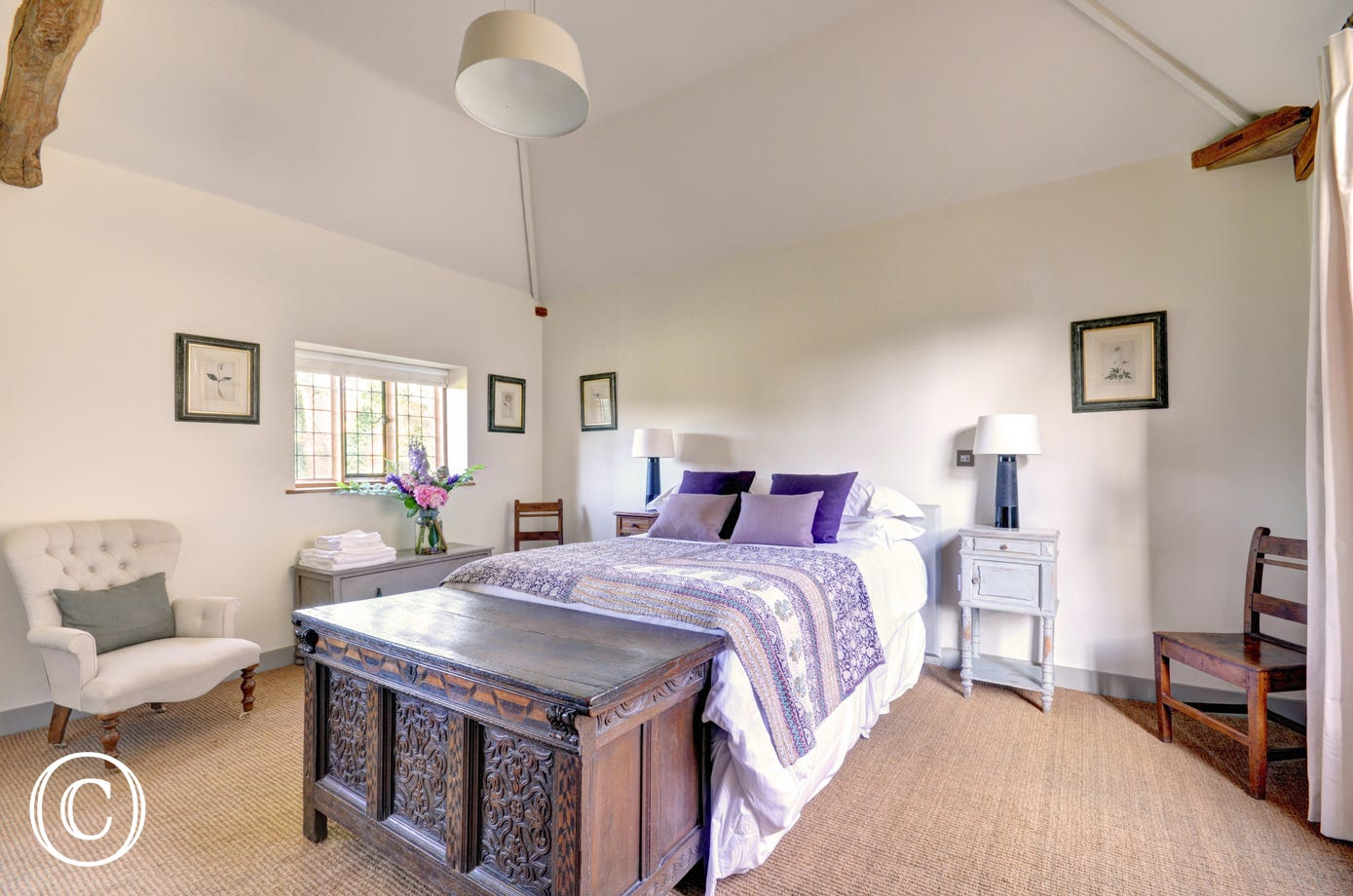 The Cottage at Hales Hall - Bedroom