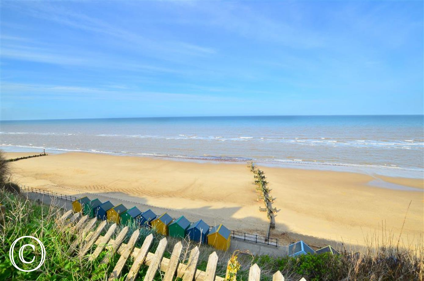 Beautiful view of Mundesley Beach