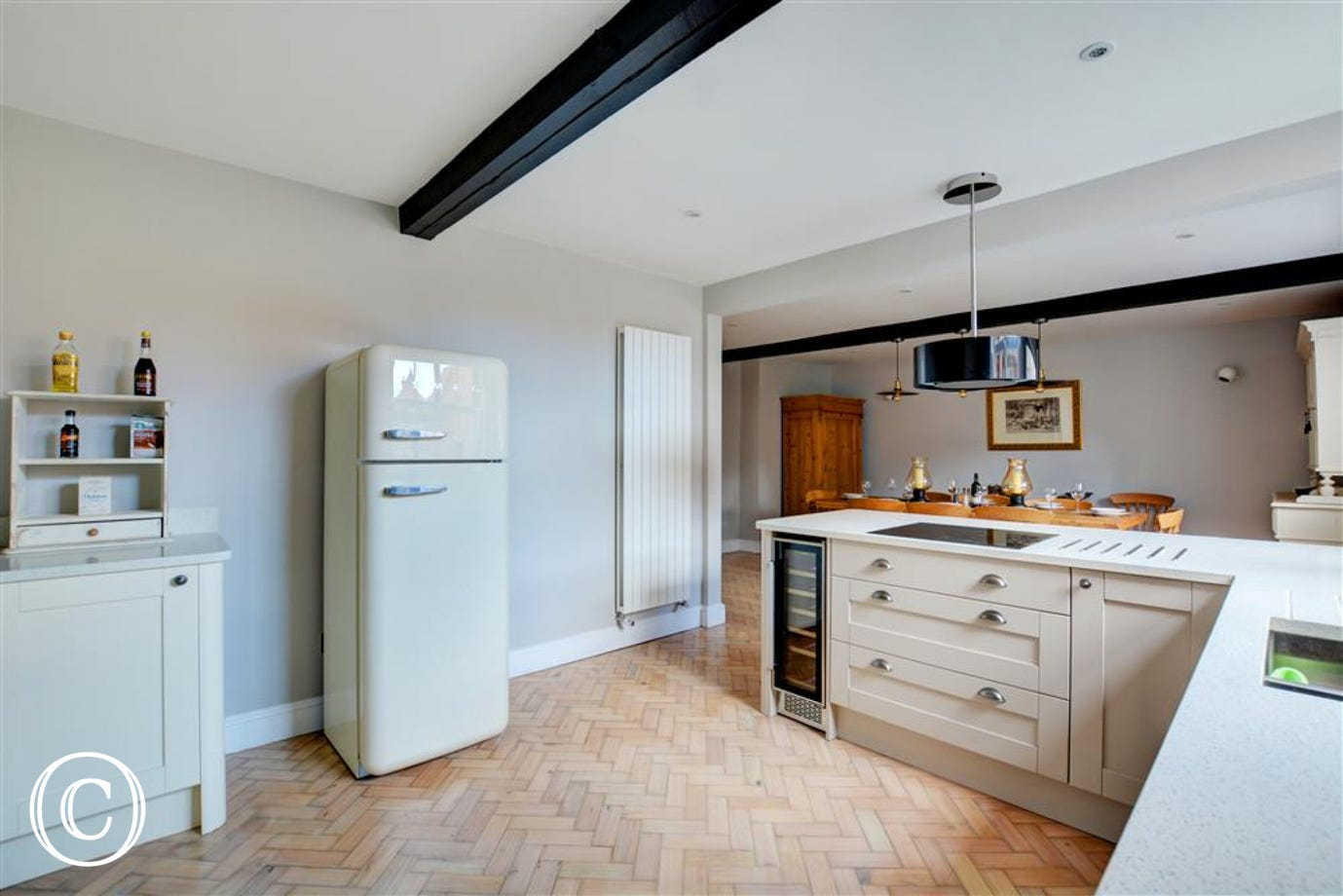 The kitchen is equipped with every thing needed for your self catering break