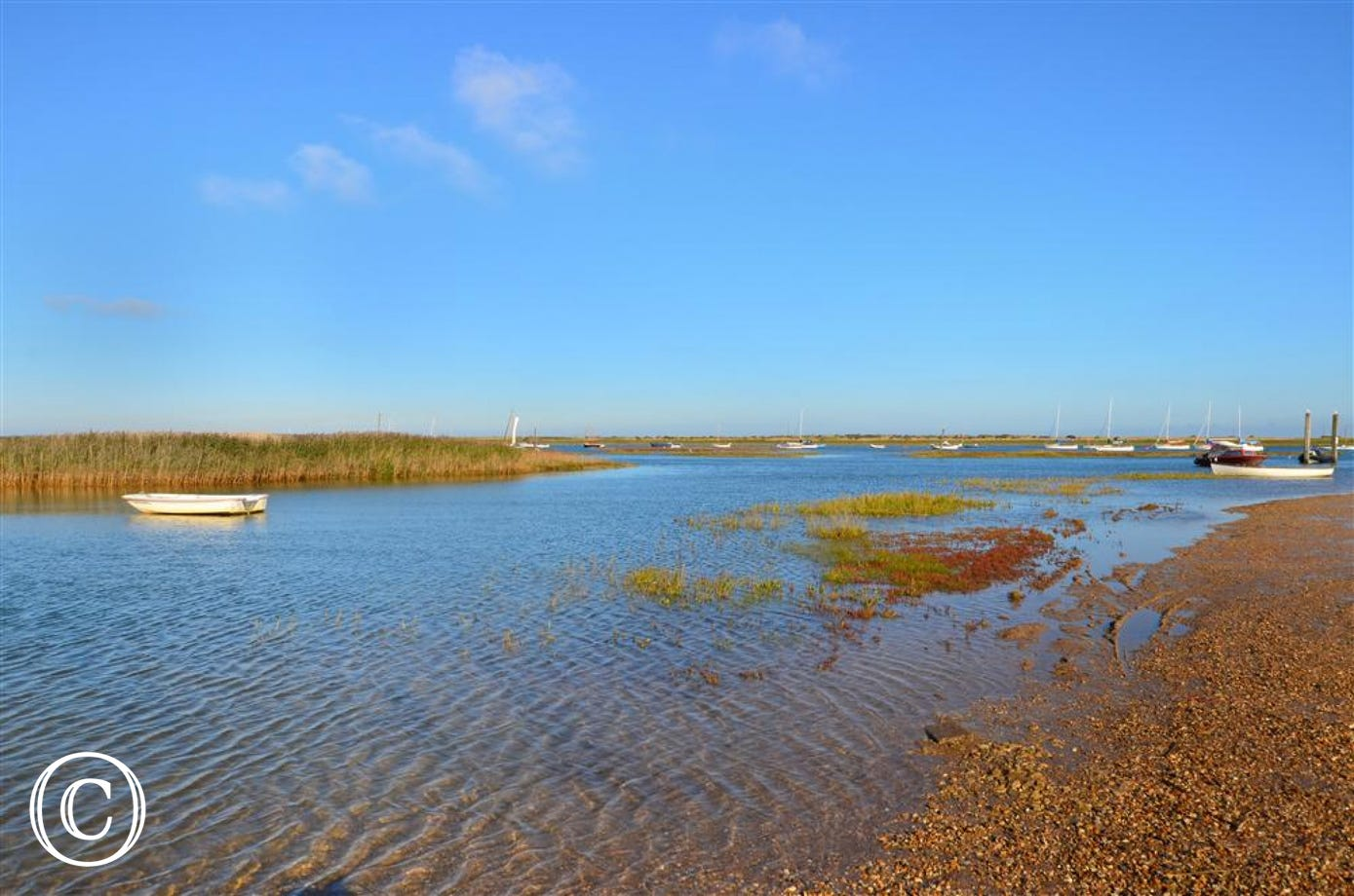 The picturesque Brancaster Staithe