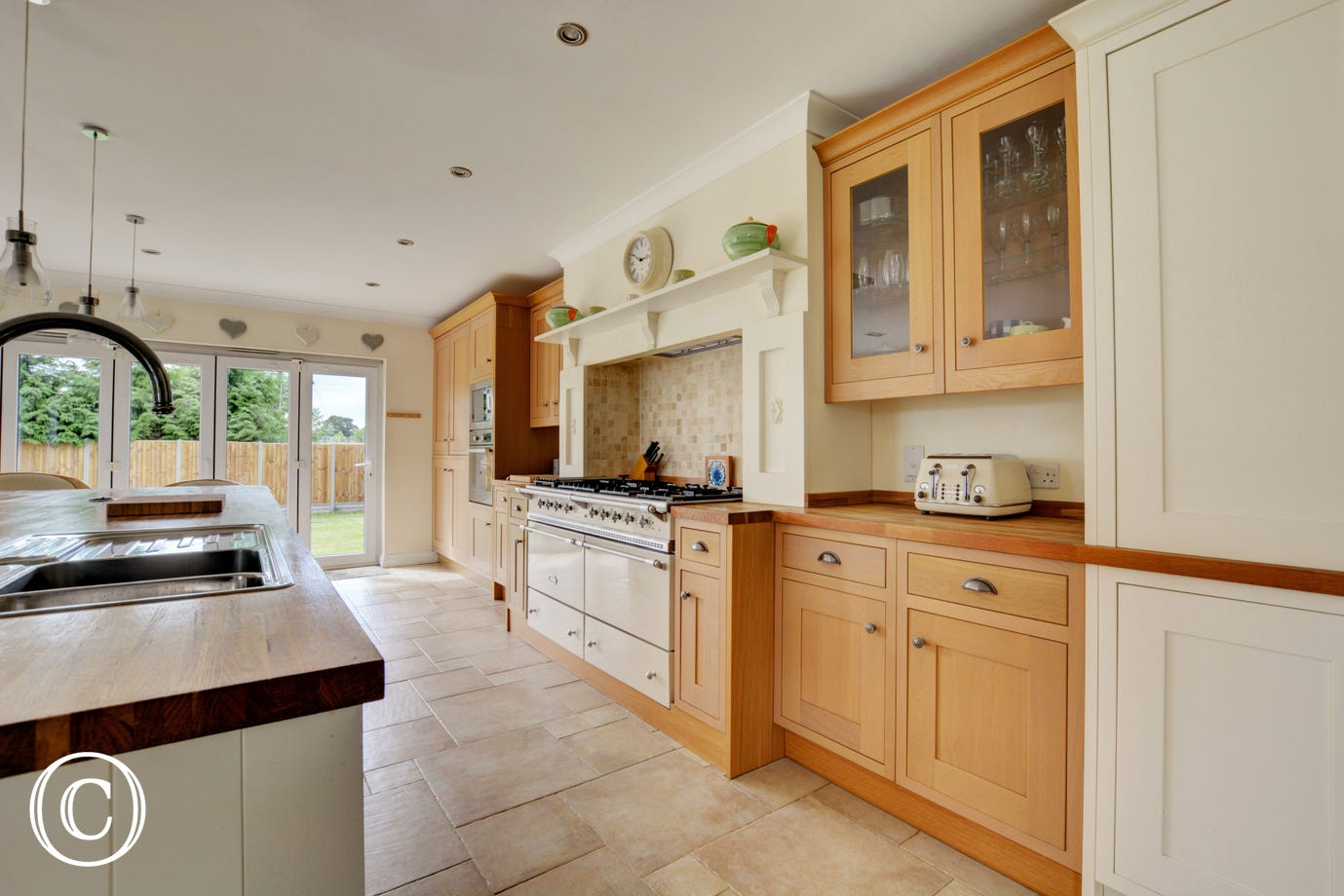 Kitchen with Lacanche range cooker