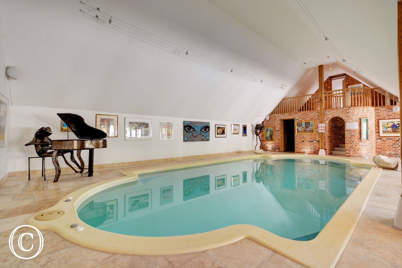 The property has the added luxury of this shared indoor pool
