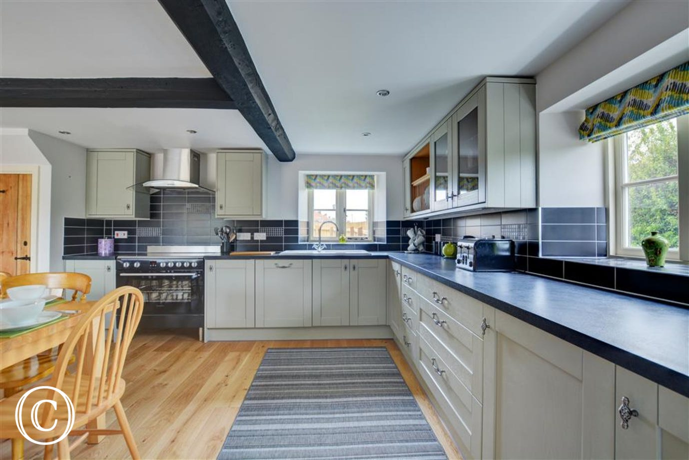 The kitchen is well equipped with everything you need for your self catering break