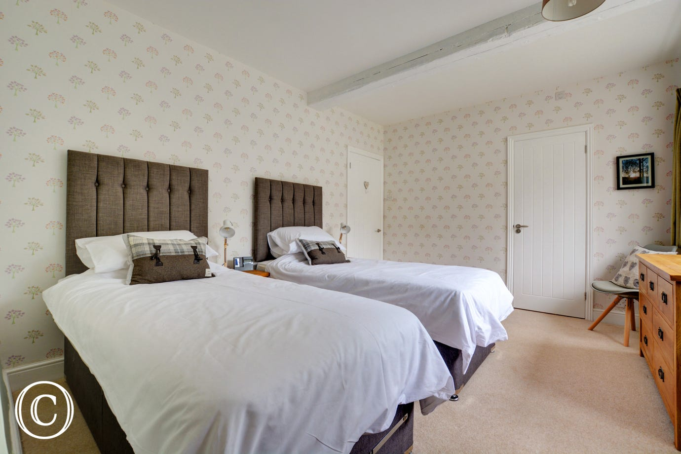 Bedroom 2 with super king bed that converts to two 3' beds, please request on booking