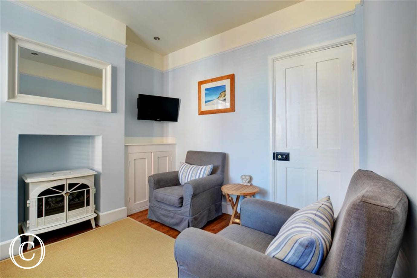 Comfortable seating within the sitting room
