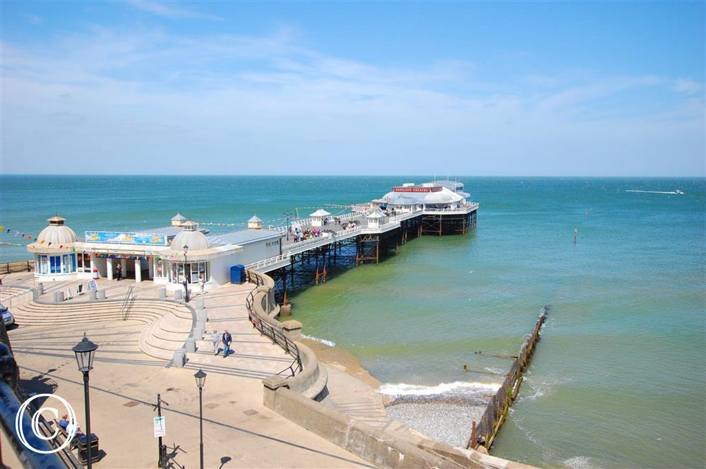 Stunning shot of Cromer pier on a beautiful clear day.