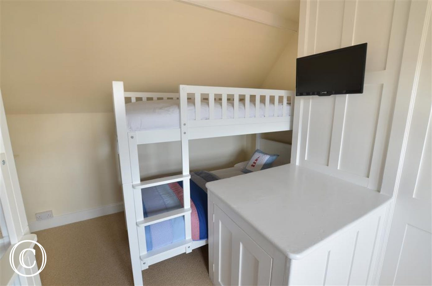 Second set of bunks within bedroom three.
