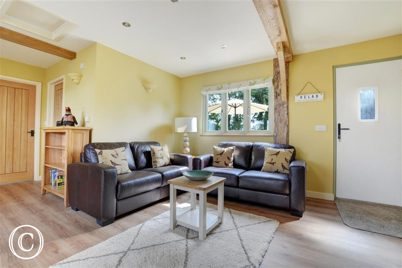 Sitting area within the spacious open plan living space