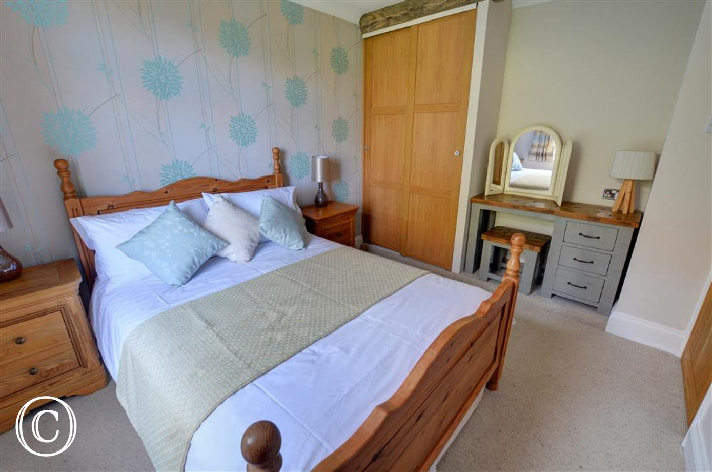 Bedroom two with double bed