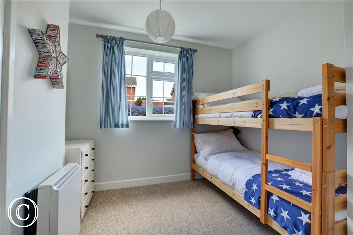 Bedroom three is a bunk bed room perfect for children