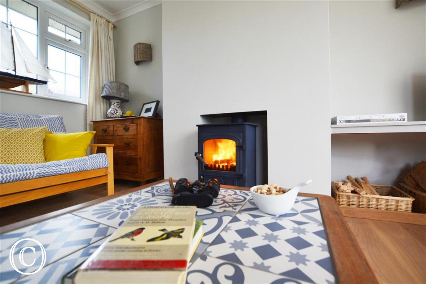 The lovely woodburner within the sitting room