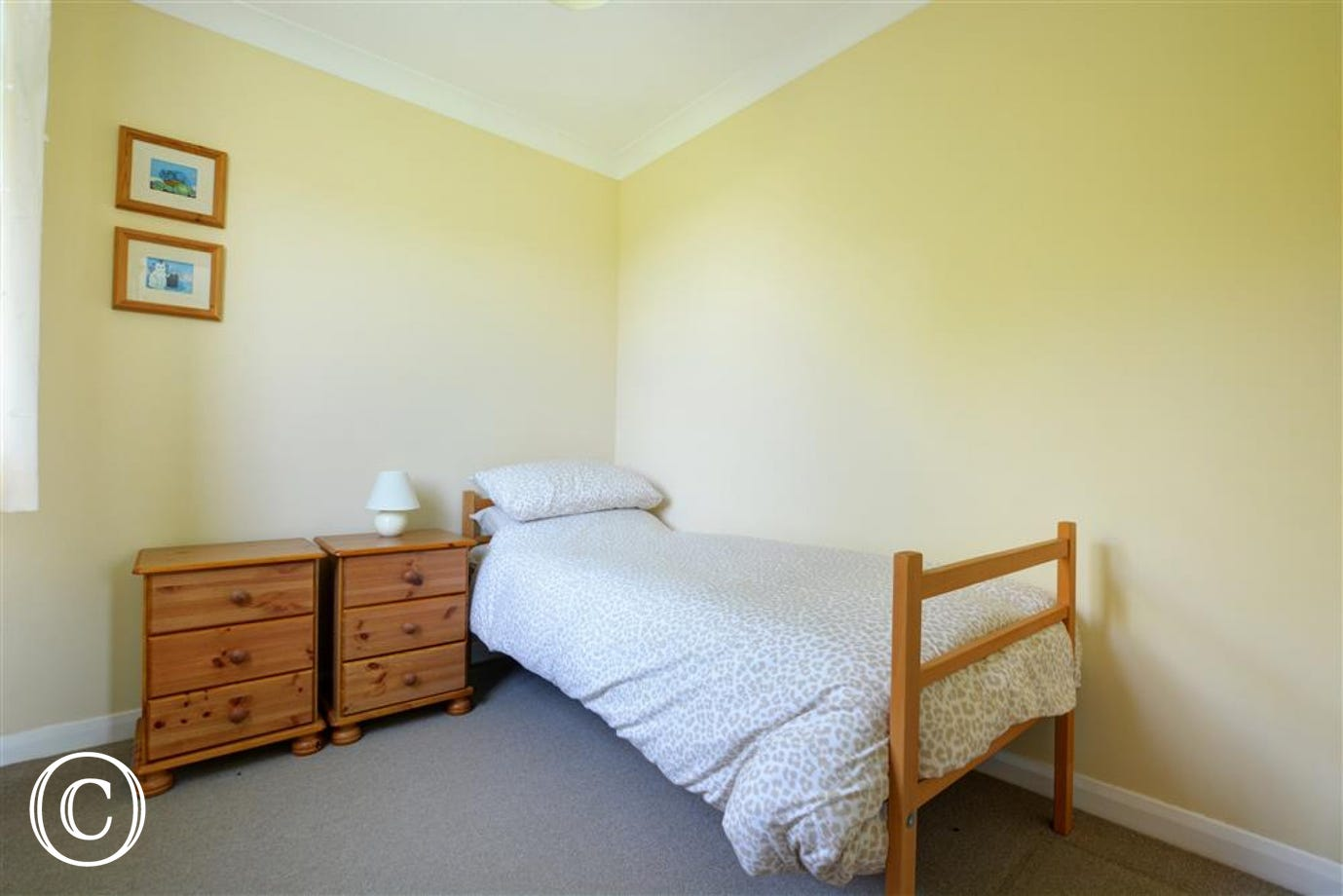 The third bedroom also has a single bed
