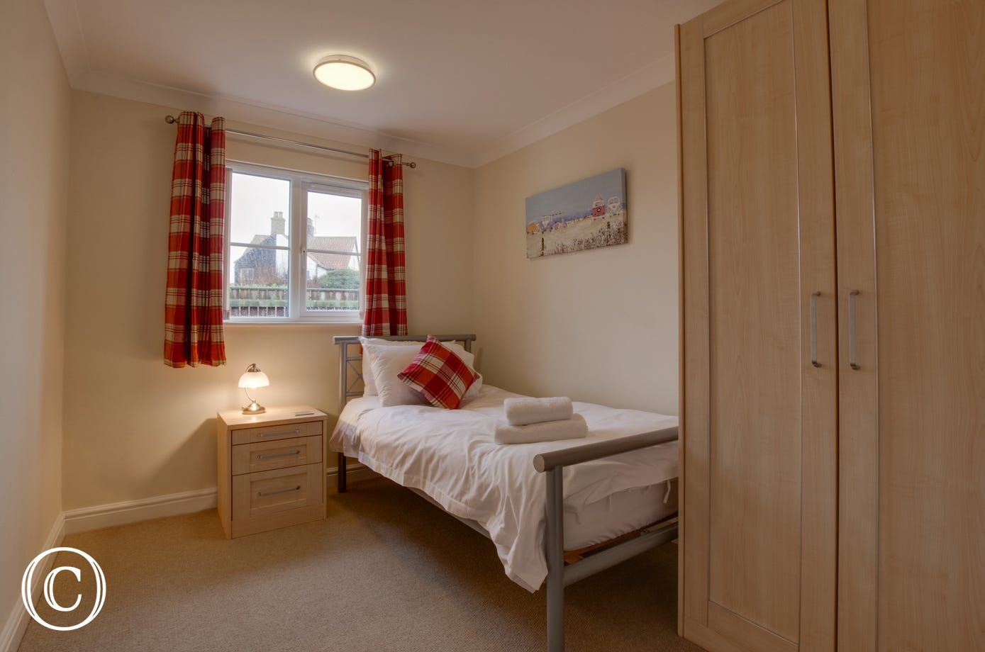 Bedroom 3 with single bed & bedside table