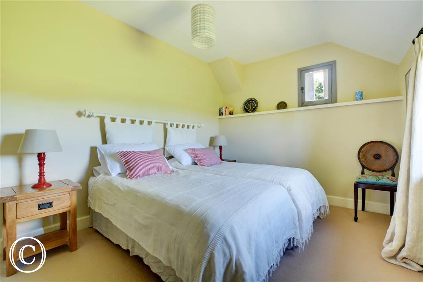 Bedroom two has a super king sized bed which can also be converted into twin beds