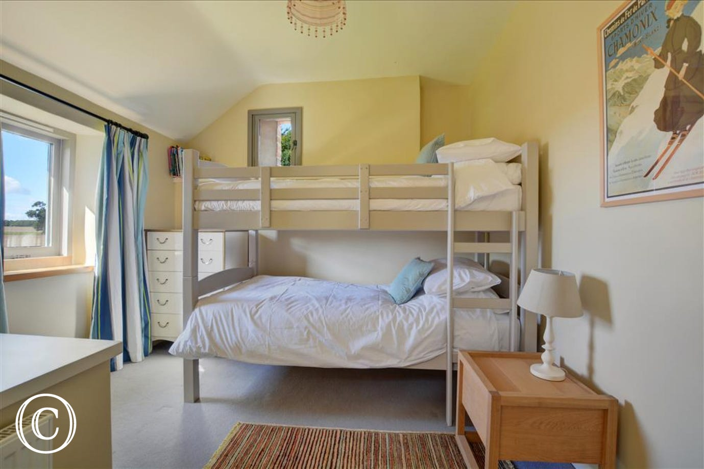 Bedroom five has full sized bunk beds
