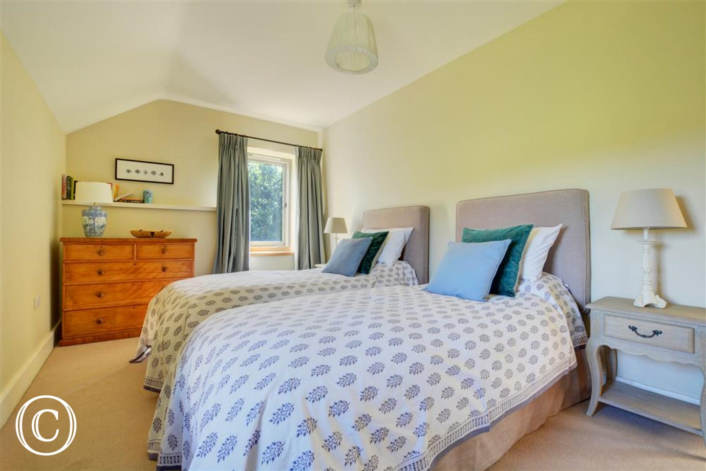 Bedroom four has twin beds, which can be converted into a super king