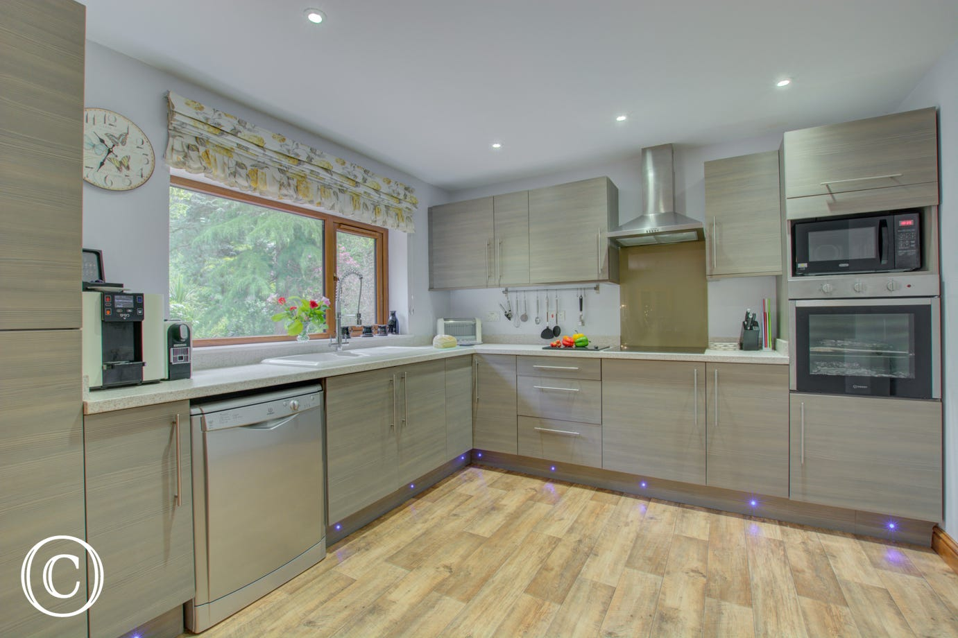 Modern, well equipped kitchen is wonderfully spacious