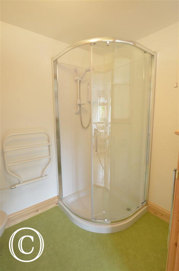 Ground floor shower room with shower cubicle