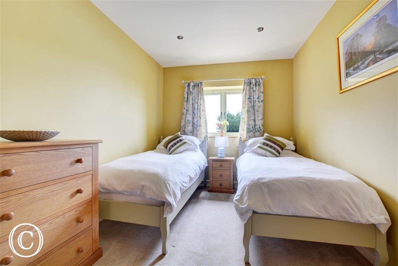 Bedroom two with twin beds