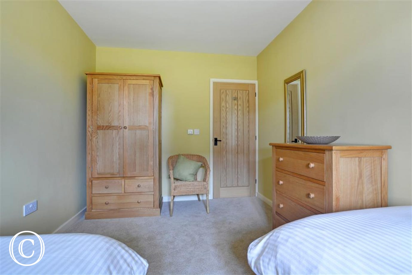 Storage and seating within bedroom two