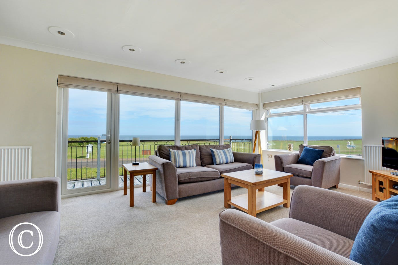First floor very well furnished sitting room, tastefully decorated with amazing views