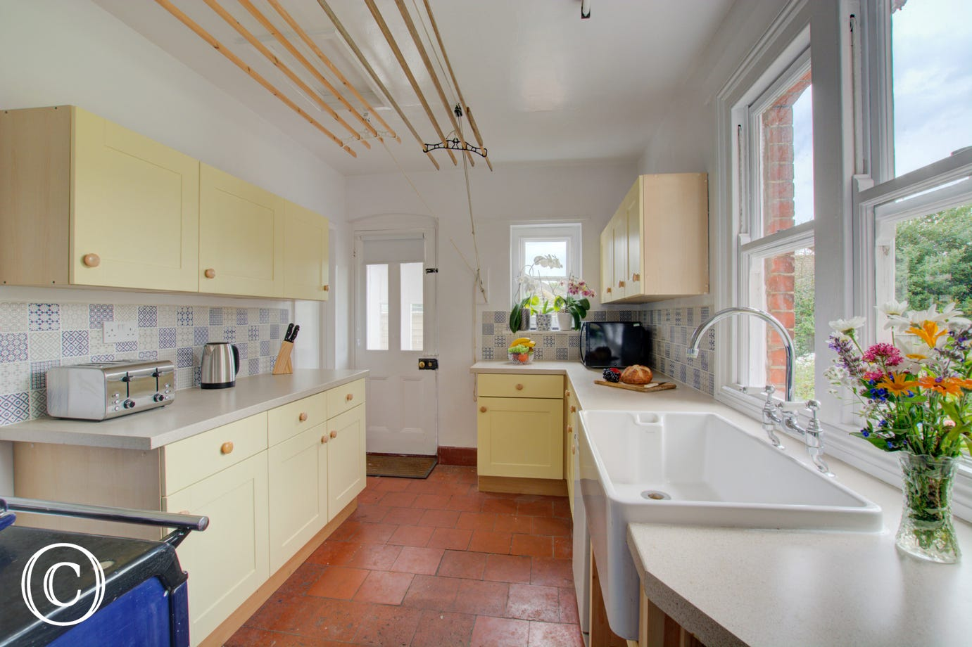Kitchen with fitted units & Aga