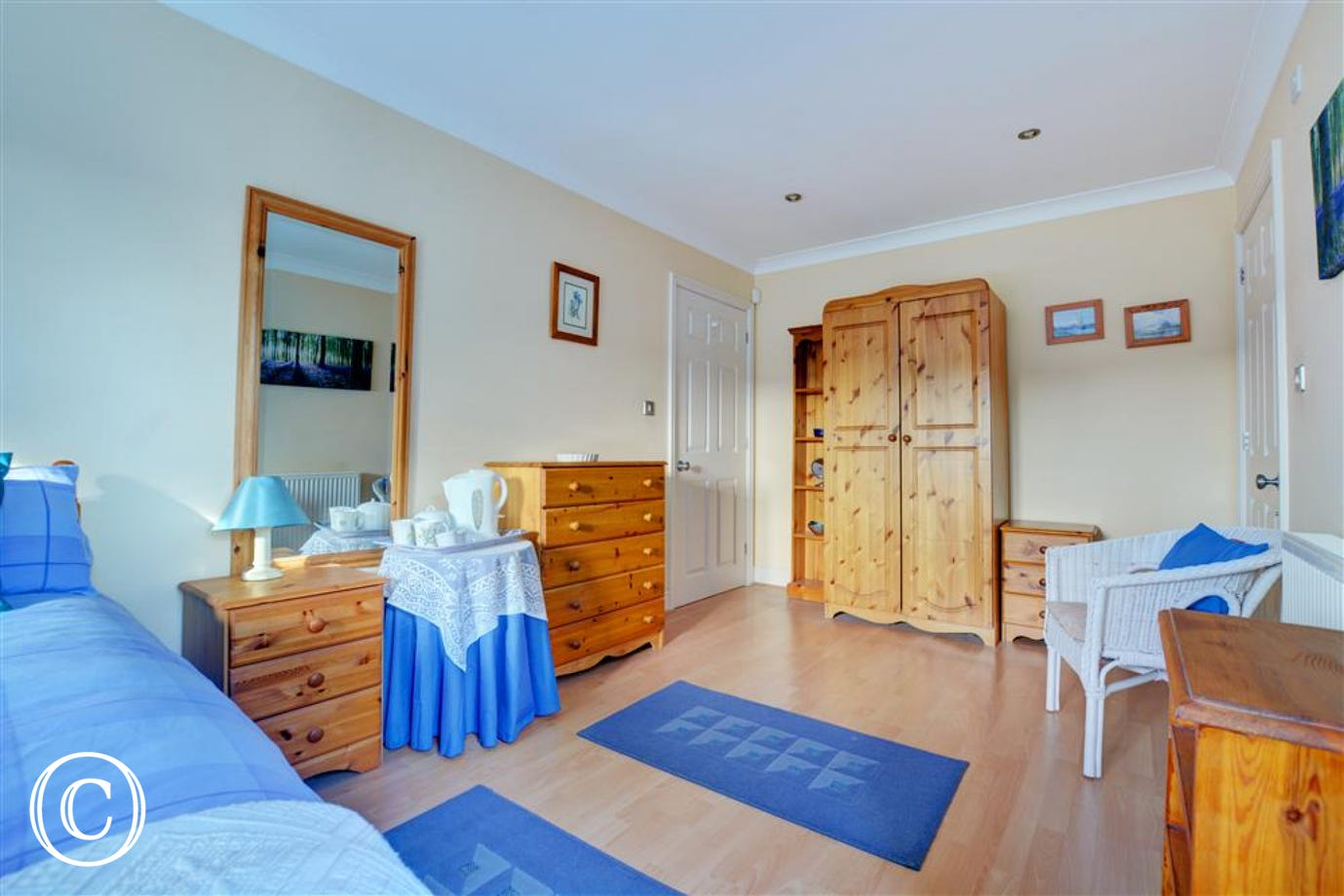 Bedroom one is a very spacious room with the added benefit of an en suite shower room