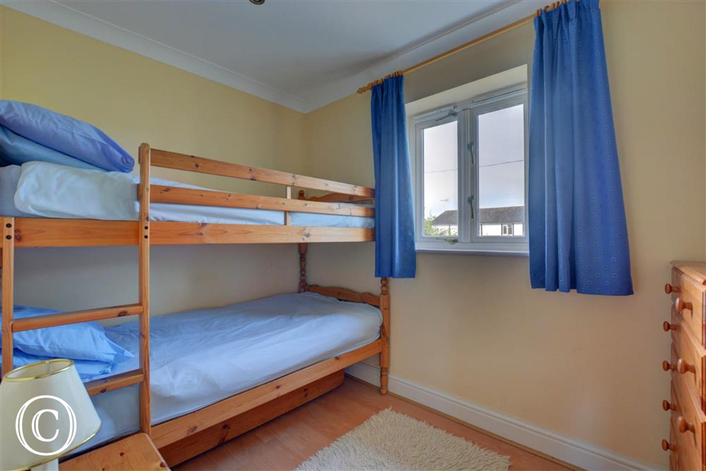 Bedroom three has full sized bunk beds