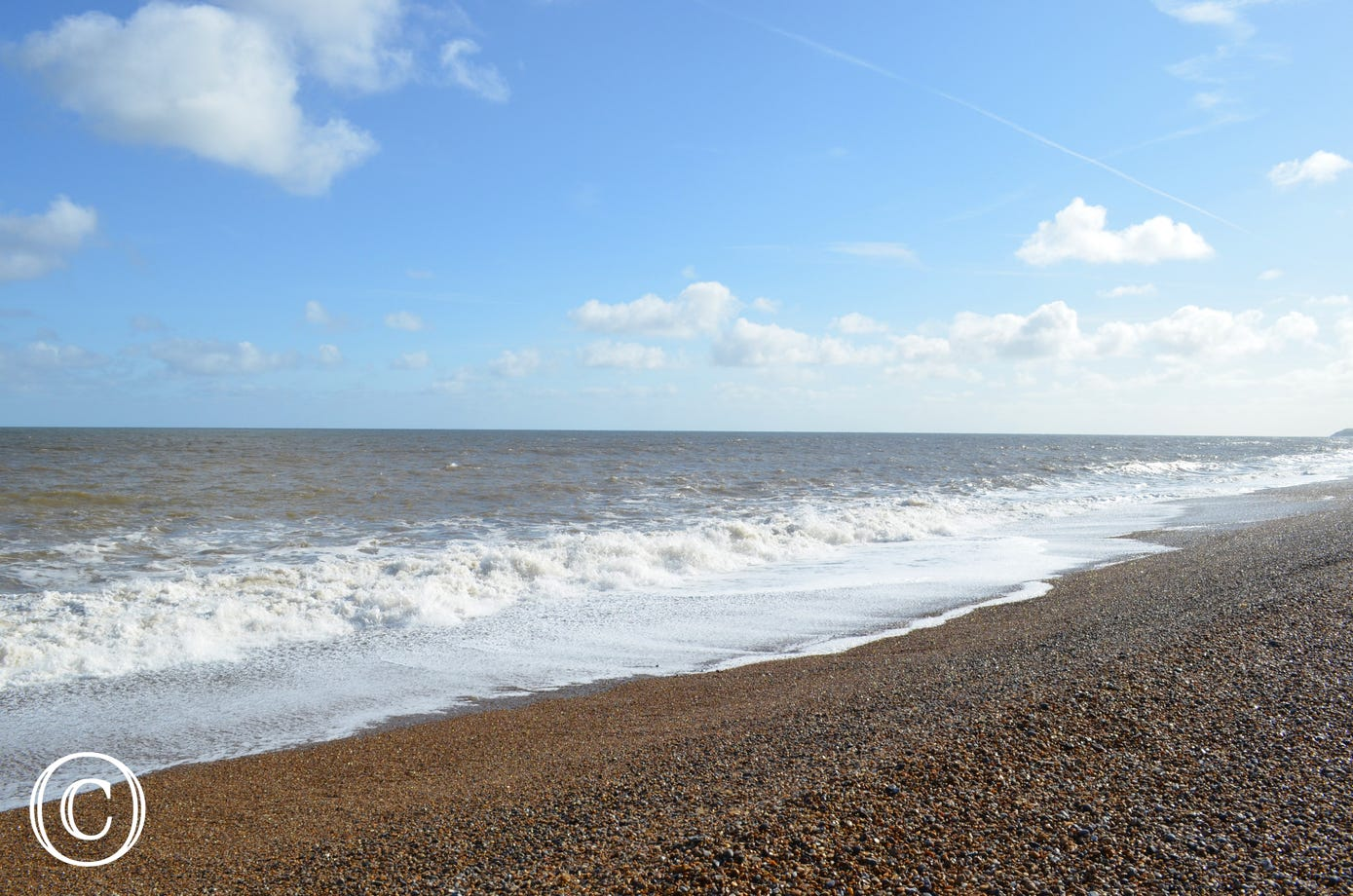 View of beach at Salthouse