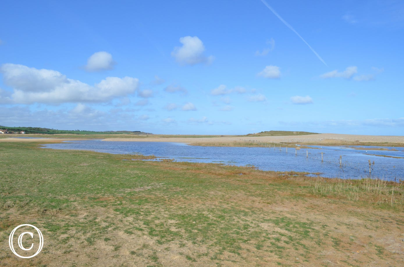 View over marshes at Salthouse