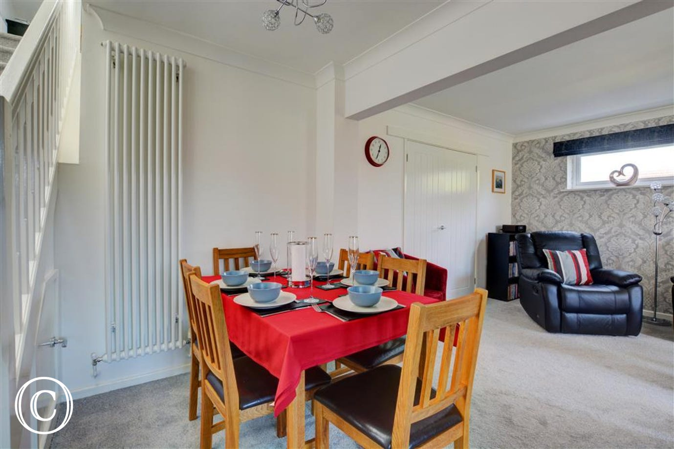 Convenient dining area within the living space