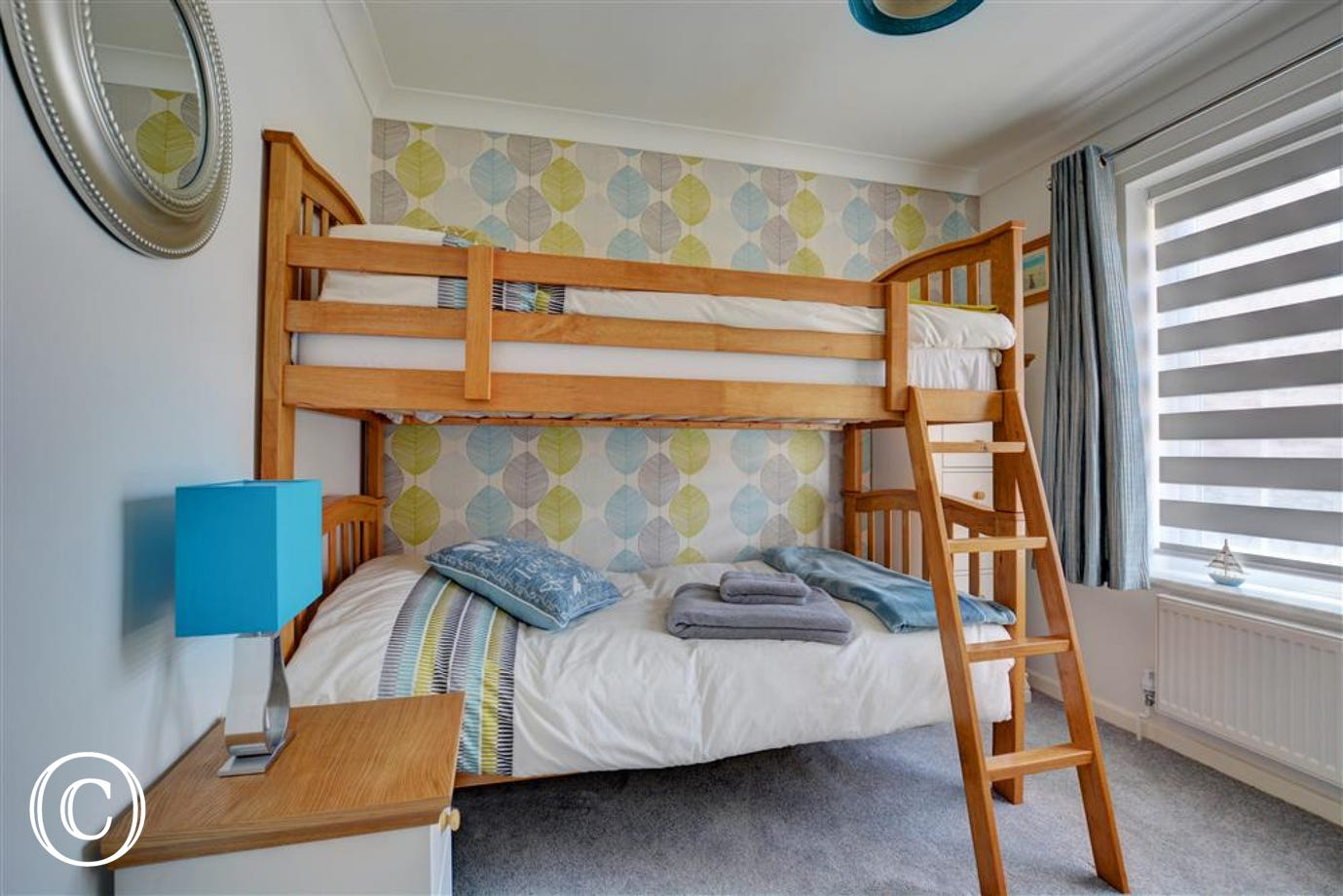 Bedroom three has bunk beds