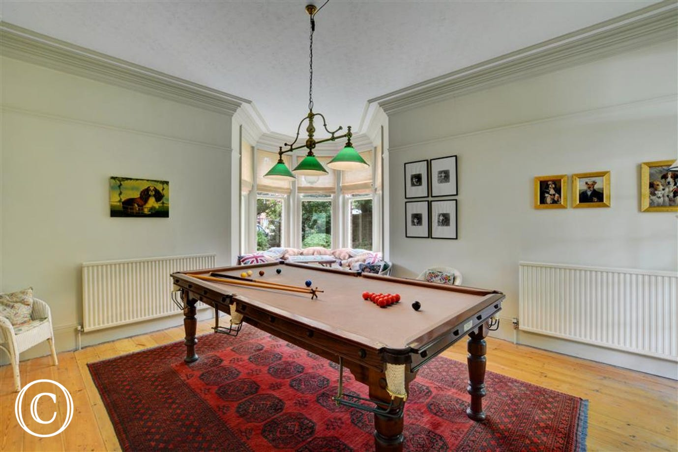 This property has the added benefit of a billiards room