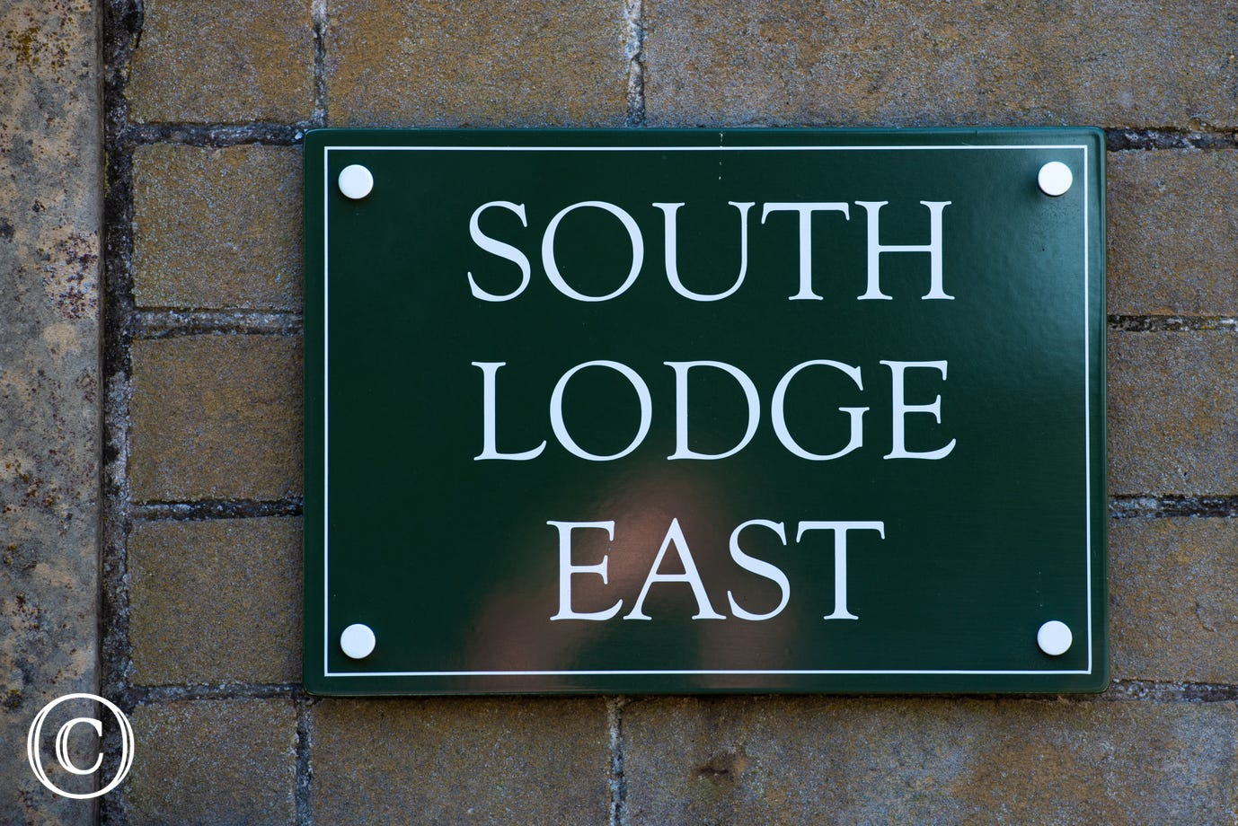 South Lodge East nameplate