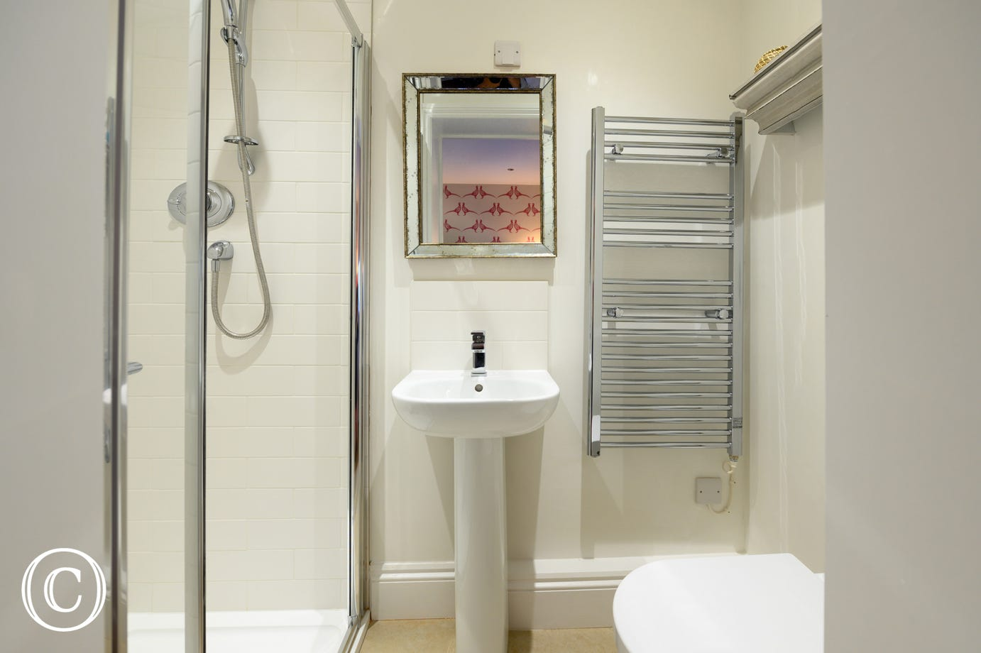 Shower Room with shower cubicle, washbasin & wc