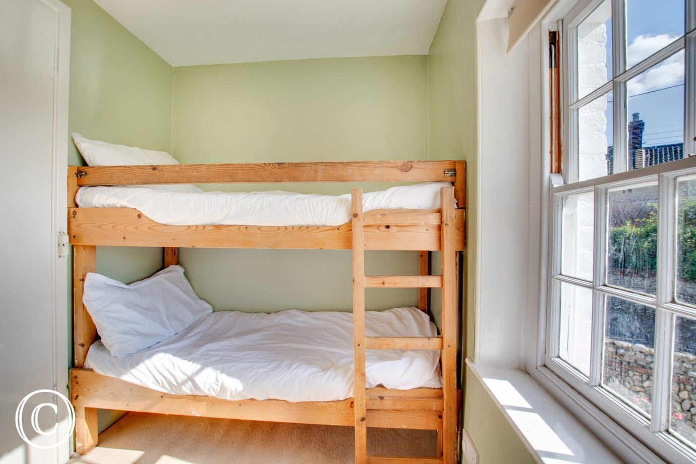 Cheerful first floor bedroom with bunk beds - suitable for children only
