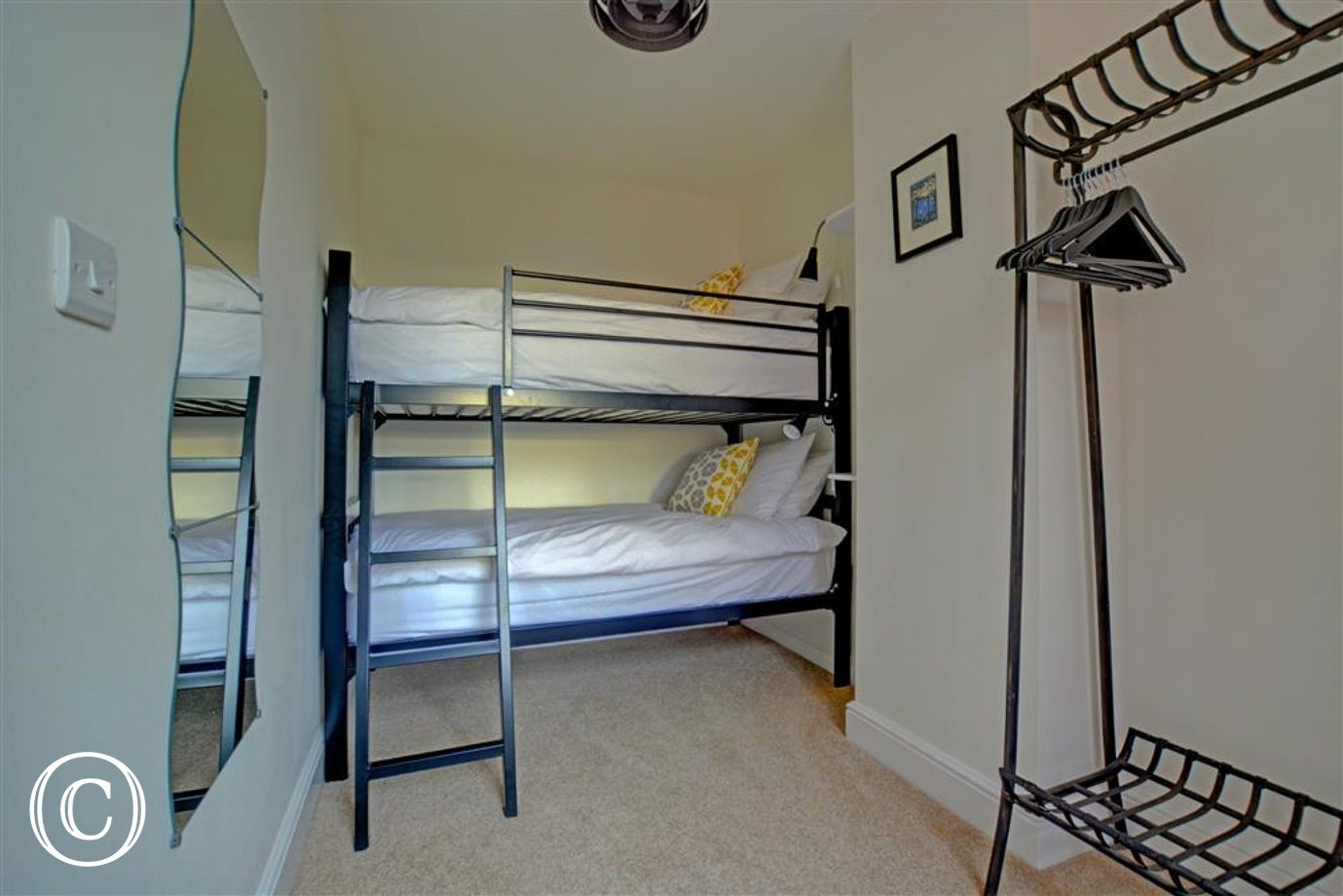 Bunk beds within bedroom three