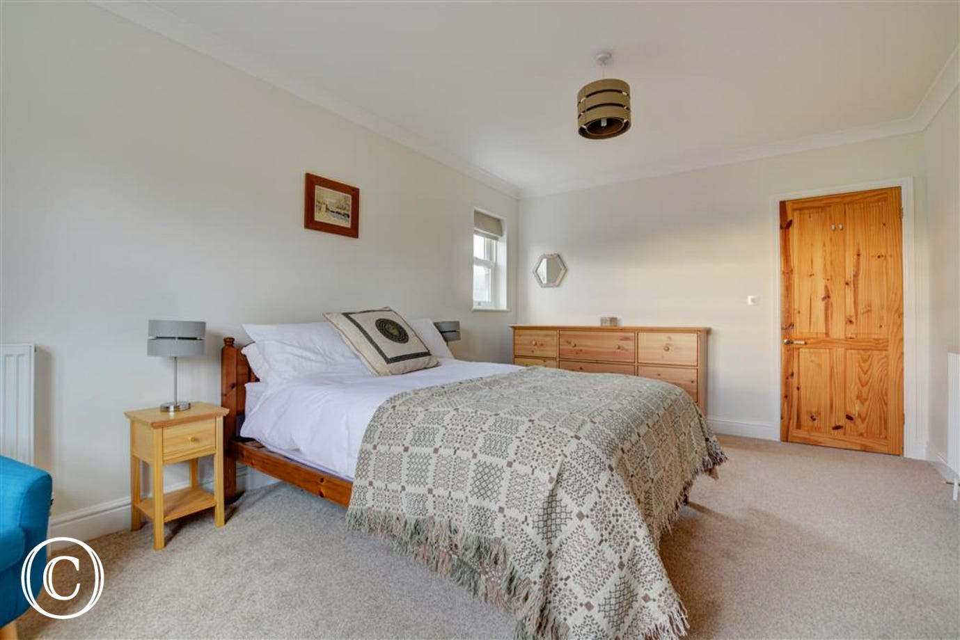 The main bedroom is a lovely spacious room