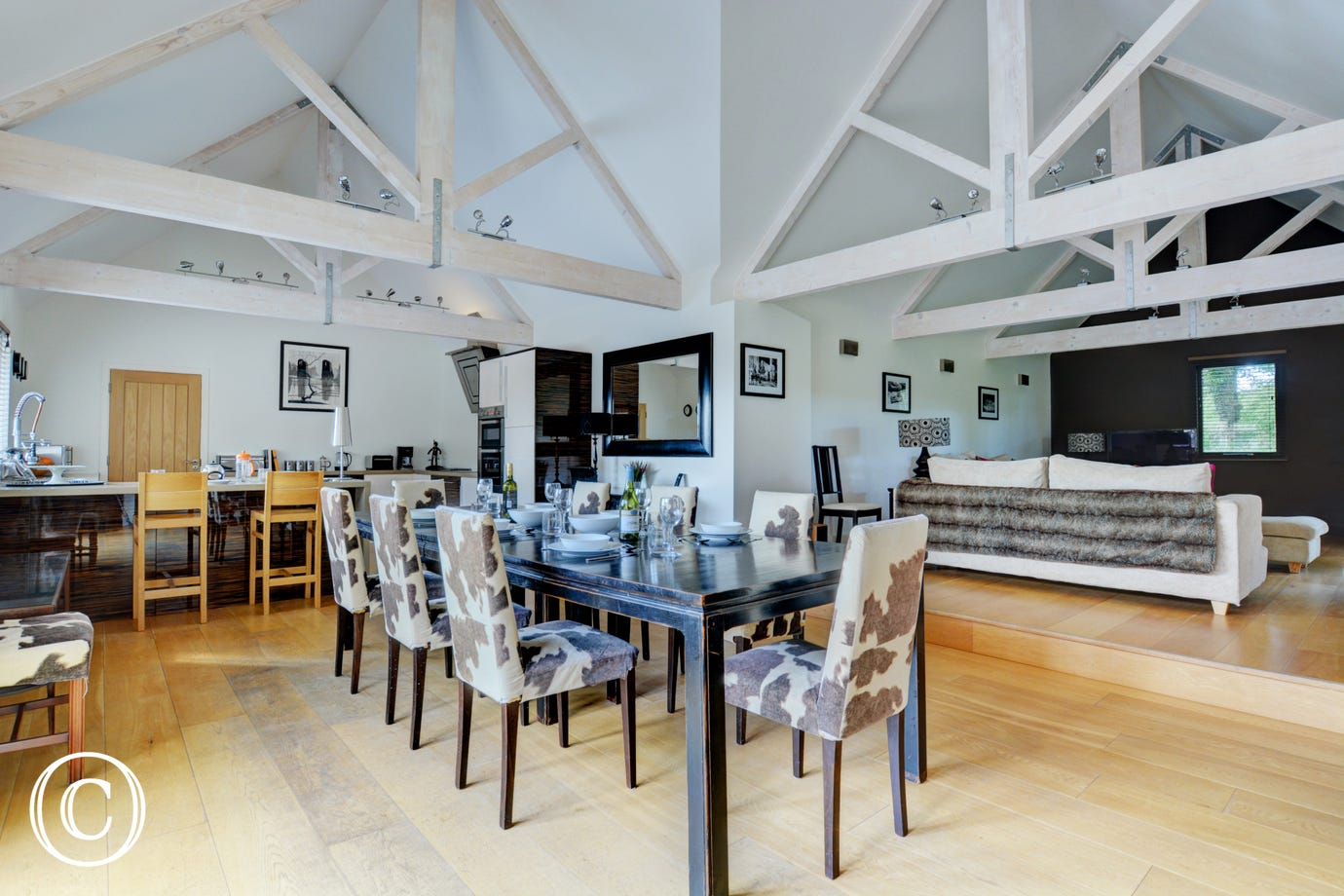 Stunningly attractive open plan Living Room, Taylors Barn