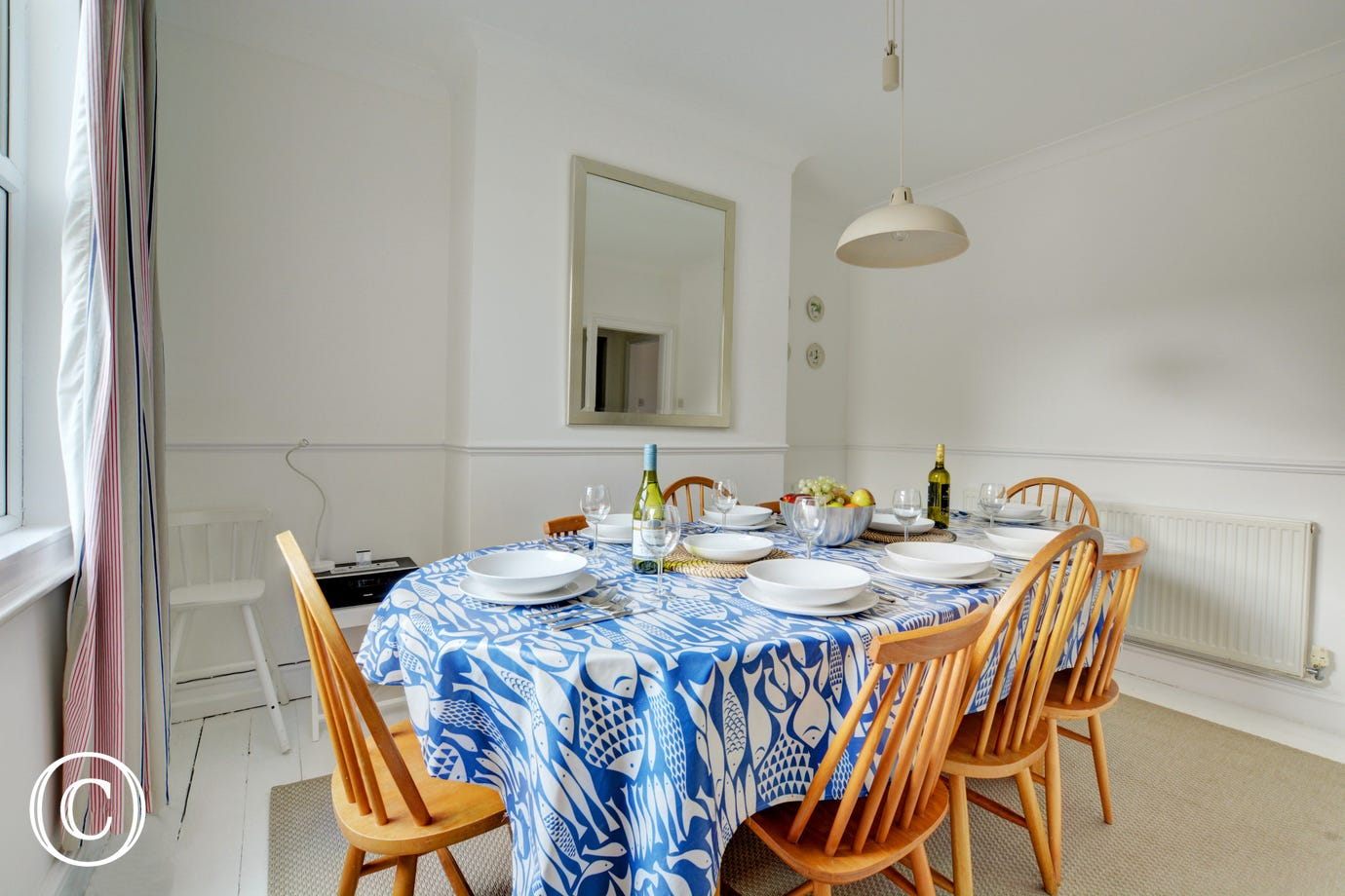 Dining table seating for all guests